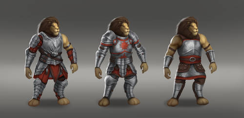 Lion Warrior Concepts by Sucdeportocale