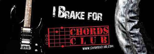 chords club bumper sticker by sunnydsl