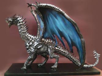 Silver dragon by karkemish00