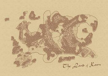Karntinent Map by Dragavan
