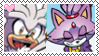 Stamp: Silver X Blaze by P0k3ys-Stamps