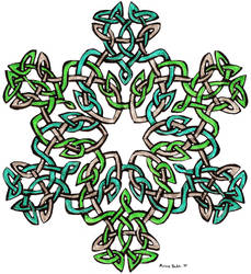 Cut-out Freehand Celtic Knot by MiriamTheBat