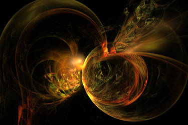 Bubbles Of Gold and Fire by shineout-fractals