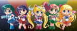 Sailormoon Buttons inner senshi full set! by Hadibou