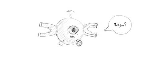Thinking about realistic magnemite by CherTailor