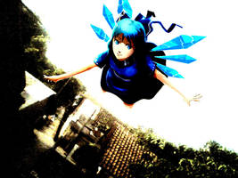 flying cirno by ekographartsign