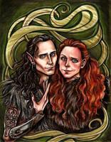 Loki and Sigyn by Muirin007