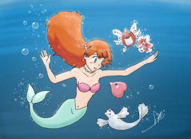 The Misty Mermaid by DFReyes