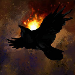 Flame Raven by vantid