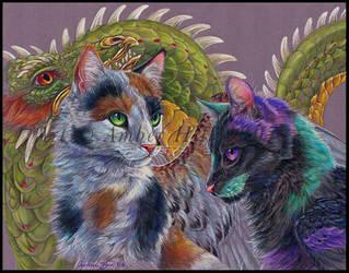 Katze Drache and Disanti by vantid