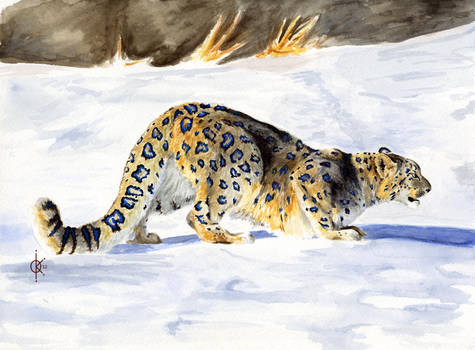Blue-Ringed Snow Leopard by atethirteen