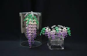 Wisteria (Fuji) Bridge Set for Maiko Henshin 2 by japanesesilkflowers