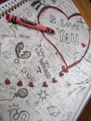 Doodle Page I Love You by sh4d0wqu33n