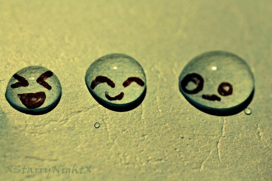Water Drop Emoticons by xStarryNightx