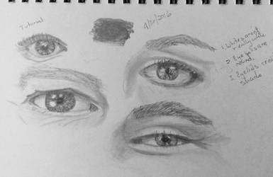 Eye practice 4/30 by LyndasDaughter