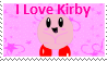 I Love Kirby STAMP by jangodb