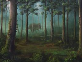 Hell Creek Landscapes 02 - Floodplain Forest by ChrisMasna