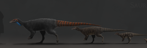 Saurian Thescelosaurus Ontogeny by ChrisMasna