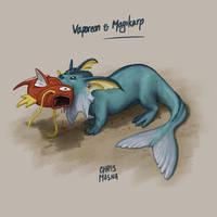Magikarp meets Vaporeon by ChrisMasna