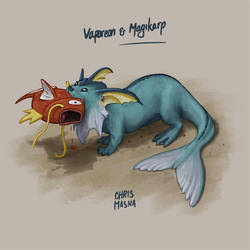 Magikarp meets Vaporeon by ChrisMasna