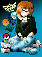 Youtube Selfportrait xD by HorrorPillow