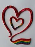 Quilling - Rainbow Heart by RzymonZPapieru