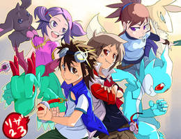 Digimon Tamers :Alpha Generation X Mirai Project by Riza23