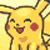 Pikachu happy
