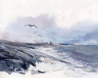 moody sea by Flingling