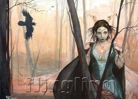 Raven-faery by Flingling