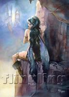 Broken Wings of Night by Flingling