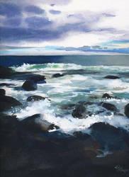 Rough sea by Flingling