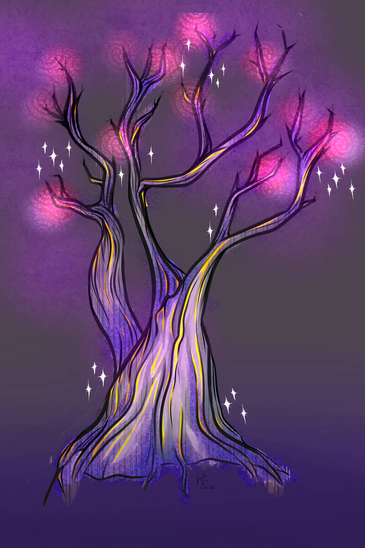 neopets-esque magic tree wip by PixelDepictions