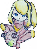 Chibi Samus by SuperPrincessSyd