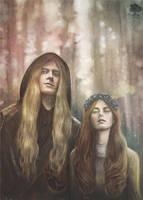 Rhaegar Targaryen and Lyanna Stark by lillak-illustration