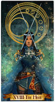 The moon tarot card commission by Ioana-Muresan