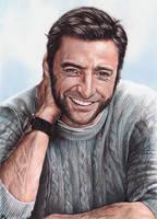 Hugh Jackman portrait by Karenscarlet