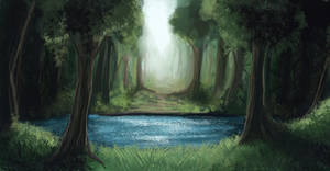 Sketch - forest by Fridsiee