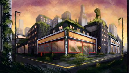 Urban overgrowth by Fridsiee