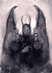Lovecraftiana - Wings of a Faceless Angel by Paintagram