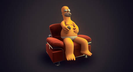 Homer Simpson by djreko
