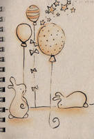 Bunnies and Balloons by padfootsmyhero