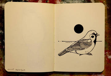Inktober 20 - Eurasian tree sparrow by CathM