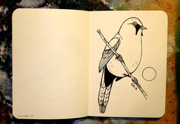 Inktober 23 - Bearded reedling by CathM