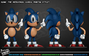 Sonic (Greg Martin Version) by realinvaderdesign