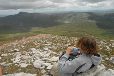 The View From Mt Errigal by Direlda