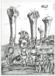 'Pillars of Consciousness' by Bernardumaine