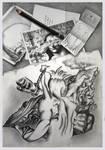 Nine drawings by Bernardumaine