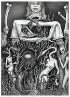 Cadavre exquis avec Karena Karras by Bernardumaine