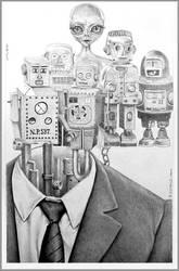 Robot-Marie by Bernardumaine